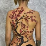 Cherry Blossom Tattoo By Mukesh Waghela At Moksha Tattoo Studio Goa India.