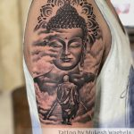 Buddha Tattoo Done By Mukesh Waghela Best Tattoo Artist In Goa at Moksha Tattoo Studio Goa India.