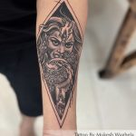 Kali Maa Tattoo Done By Mukesh Waghela Best Tattoo Artist In Goa at Moksha Tattoo Studio Goa India.