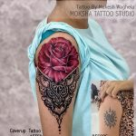 Rose with Mandala Tattoo By Mukesh Waghela Best Tattoo Artist In Goa at Moksha Tattoo Studio Goa India.