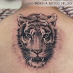 Tiger Tattoo Done By Mukesh Waghela Best Tattoo Artist In Goa at Moksha Tattoo Studio Goa India.