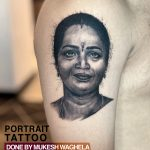 Portrait Tattoo by Mukesh Waghela Best Tattoo Artist In Goa at Chennai Seminar.